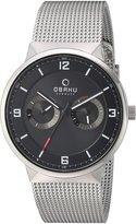 Obaku Men's V170GMCBMC Analog Display Analog Quartz Silver Watch