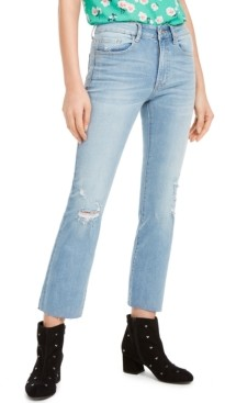 Numero Distressed Straight Ankle Mid-Rise Jeans