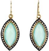 Nunu Aqua Chalcedony Marquee Earring (Black Rhodium Aqua Chalcedony) - Jewelry
