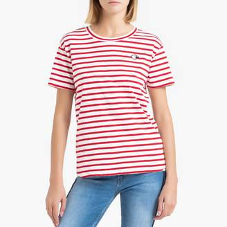 Maison Scotch Striped Cotton T-Shirt with Short Sleeves