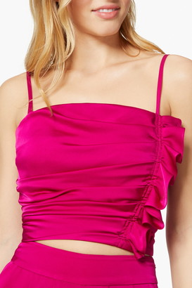 Ramy Brook Estelle Ruffle Trim Cropped Camisole