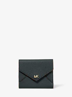 Michael Kors Medium Two-Tone Pebbled Leather Envelope Wallet