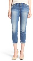 KUT from the Kloth 'Catherine' Slim Crop Boyfriend Jeans (Dark Stone)