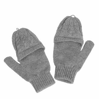 Jiegorge Gloves Ms. Lovely Five F-ingers Thin Wool Knitted Gloves Half-Finger Flip Gloves