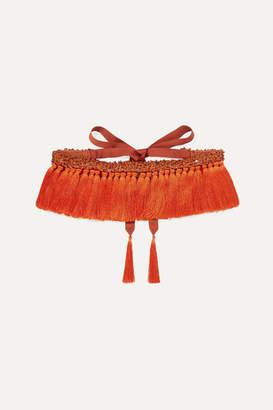 Johanna Ortiz We Are Human Embellished Tasseled Belt - Orange