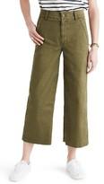 Madewell Women's Dearborn Wide Leg Crop Pants