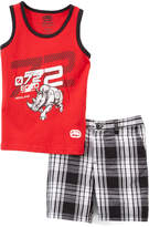 Ecko Unlimited Red '72' Tank & Plaid Shorts - Infant & Toddler