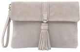 Mint Velvet Belle Suede Stud Tassel Clutch Bag