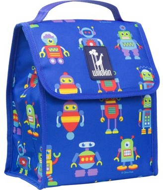 Olive Kids Robots Blue Insulated Lunch Bag for Boys and Girls