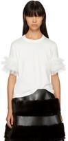 Noir Kei Ninomiya White Ruffle Sleeve T-shirt
