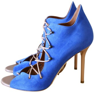 Malone Souliers Blue Suede Sandals