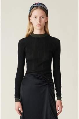 Ganni Thin Cotton Rib Pullover
