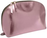 Vida Vida Lunar Metallic Pink Leather Wash Bag