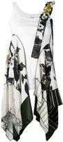 Antonio Marras scarf insert top - women - Silk/Cotton/Polyester/Viscose - 40