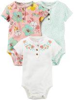 Carter's Baby Girl 3-pk. Henley Bodysuits
