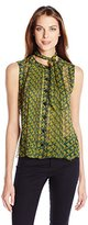 Anna Sui Women's Sleeveless Top with Neck Tie