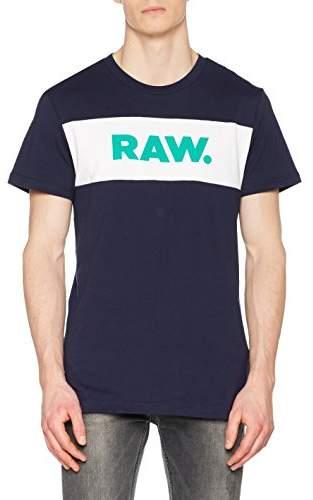 G Star Men's Bellar Regular R T S/s T-Shirt, (Sartho Blue 6067), Large