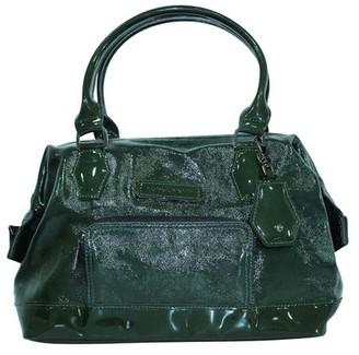 Longchamp Dark Green Patent Leather Satchel
