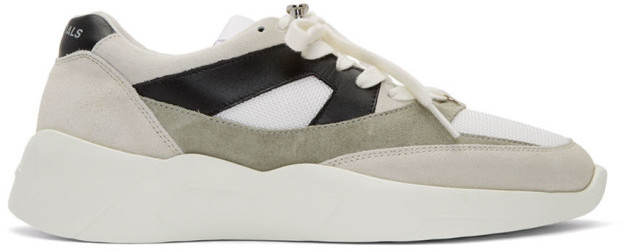 Essentials Grey and Green Distance Sneakers