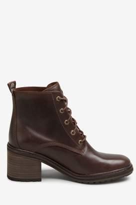 Timberland Womens Dark Brown Sienna Block Heel Boots - Brown