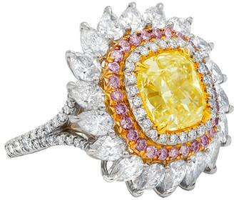 Diana M Fine Jewelry Platinum & 18K Two-Tone 7.78 Ct. Tw. Diamond Ring