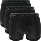 Lacoste Underwear Triple Pack Boxer Trunks Black