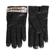 Valentino Black Leather Rockstud Gloves
