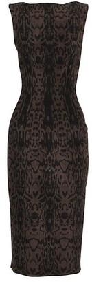 Alaia Animal Print Sheath Dress