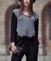 Yuka Paris Black & Cream Sidetail Sweater