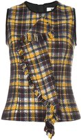 MSGM tartan plaid top