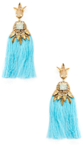 Deepa Gurnani Tassel Statement Earrings