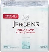 Jergens Mild Soap Bath, 4.5 Ounce, 4 Count, (Pack of 3)