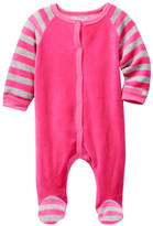 Coccoli Velour Striped Sleeves Footie (Baby)