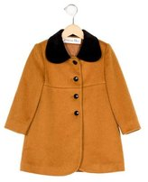 Christian Dior Girls' Collared Velvet-Trimmed Coat
