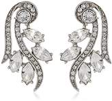 Ben-Amun Jewelry Clear Florette Stud Earrings