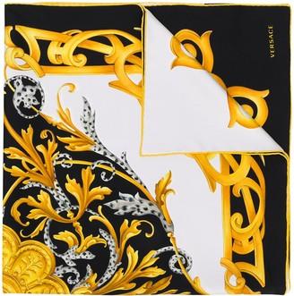 Versace Acanthus print scarf
