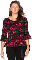 Velvet by Graham & Spencer Gertrude Floral Top in Black. - size S (also in XS)