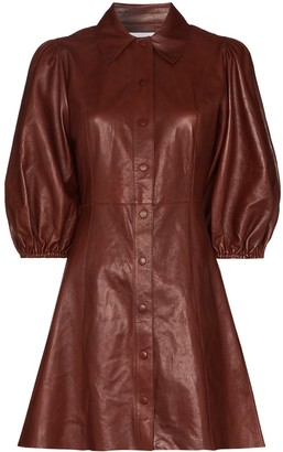 Ganni Pouf-Sleeve Mini Dress