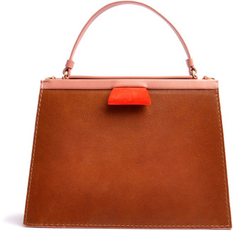 Ostwald Finest Couture Bags Turtle Edge Large In Brandy Cypria-Rose & Papavero-Red