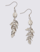 M&S Collection Leaf Drop Earrings