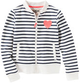 Osh Kosh Striped French Terry Bomber Jacket