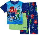 LICENSED PROPERTIES Boys 3-pc.PJ Masks Short Sleeve Kids Pajama Set-Toddler