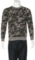 Saint Laurent Camouflage Print Sweatshirt