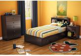 South Shore Zach 1-Drawer Nightstand in Chocolate