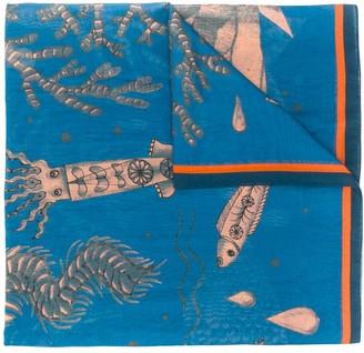 Odeeh Sea Life Print Scarf