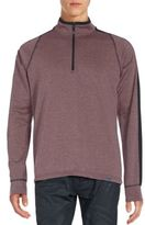 Hawke & Co Ribbed Mockneck Sweatshirt