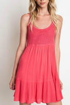 Umgee USA Crochet Tank Dress