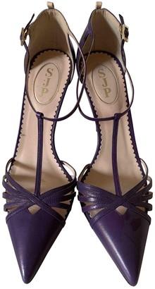 Sarah Jessica Parker Purple Leather Heels