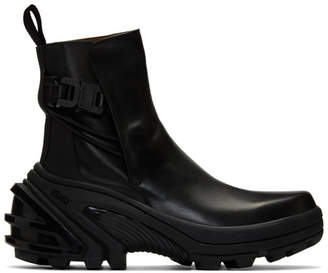 Alyx Black Fixed Sole Low Buckle Boots