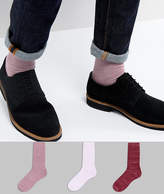 Asos Textured Socks In Random Feed Design 3 Pack